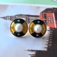 NHOM1754327-Round-drip-glaze-pearl-silver-pin-earrings-2.5CM