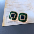 NHOM1754366-Small-Square-Silver-Needle-Stud-Earrings-1.8CM