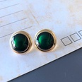 NHOM1754372-Small-round-drip-glaze-silver-pin-earrings-10.8C