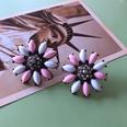 NHOM1754457-Large-silver-needle-stud-earrings-3.8CM