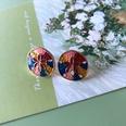 NHOM1754462-Round-small-flower-drip-glaze-earrings-1.8CM