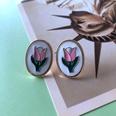 NHOM1754464-Tulip-Silver-Needle-Stud-Earrings-2.21.6CM