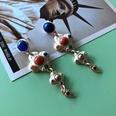 NHOM1754467-Matte-Silver-Needle-Earrings-72.2CM