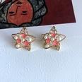 NHOM1754454-Five-Star-Silver-Needle-Earrings-2CM