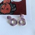 NHOM1754455-Light-Purple-Dripping-Glaze-Stud-Earrings-3CM