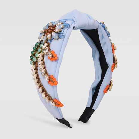 wholesale jewelry fashion hand-embroidered cloth wide brim headband Nihaojewelry NHMD379250's discount tags