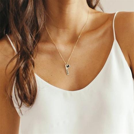 Nihaojewelry joyería al por mayor acero inoxidablelettering mariposa letra collar colgante NHTF379824's discount tags