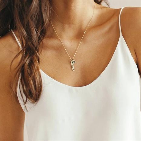Nihaojewelry joyas al por mayor nuevo collar colgante de letras redondas largas de acero inoxidable NHTF379821's discount tags