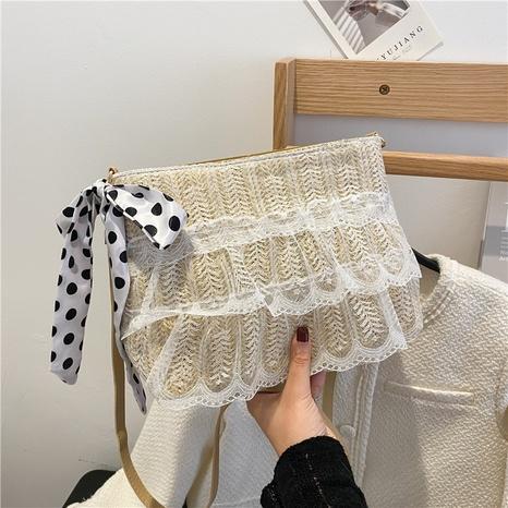 Nihaojewelry wholesale new Korean fashion messenger straw small square bag  NHRU380255's discount tags