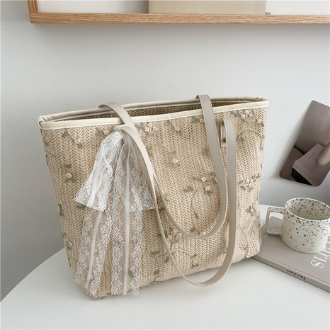 Nihaojewelry fashion large-capacity one-shoulder straw tote bag Wholesale  NHXC380323's discount tags