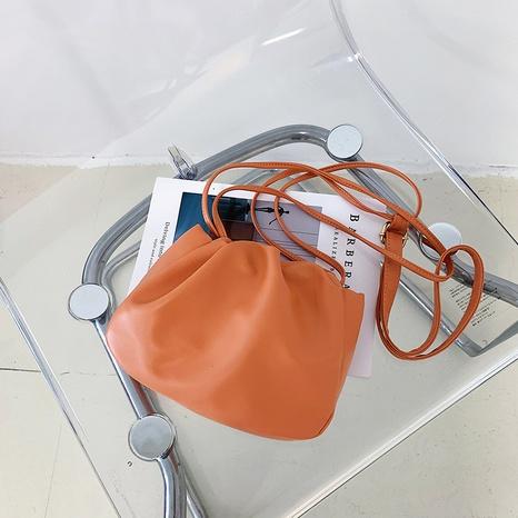 Nihaojewelry gros sac à bandoulière de grande capacité en cuir souple de couleur unie NHXC380340's discount tags