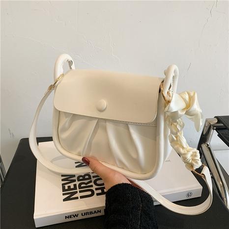 Nihaojewelry texture messenger petit sac carré à une épaule en gros NHXC380342's discount tags