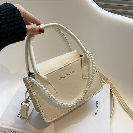 Nihaojewelry vente en gros nouveau sac de messager à bandoulière de couleur unie à chaîne de perles NHXC380349's discount tags