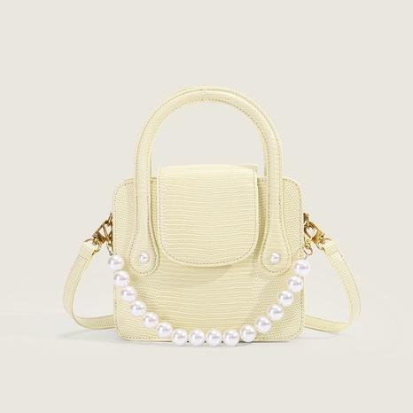 vente en gros accessoires sac de messager jaune crème chaîne de perles Nihaojewelry NHASB380511's discount tags