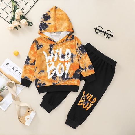 Nihaojewelry Korean style children's hooded sweatershirt trousers two-piece set Wholesale  NHLF380550's discount tags