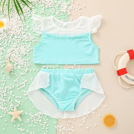 Nihaojewelry Cute Flying Sleeve Tops Shorts Swimwear Set Wholesale  NHLF380552's discount tags