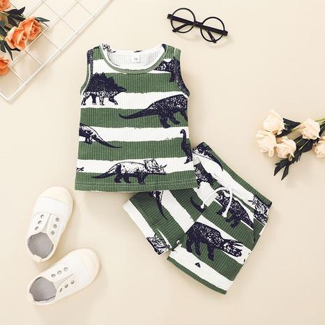 Nihaojewelry children cartoon dinosaur vest shorts two-piece set Wholesale  NHLF380554's discount tags