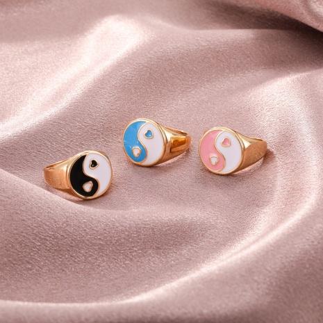 wholesale jewelry retro dripping oil tai chi ring Nihaojewelry NHGO380610's discount tags