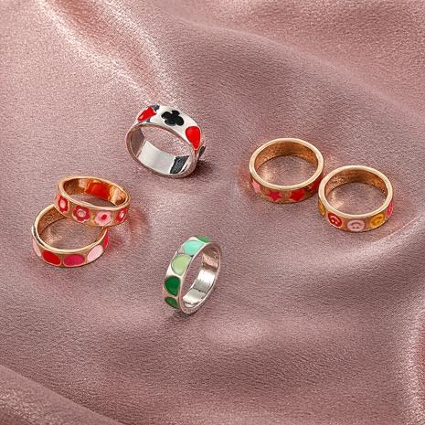 wholesale jewelry metal flower heart ring Nihaojewelry NHGO380609's discount tags