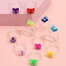 wholesale jewelry geometric butterfly color resin ring tenpiece set Nihaojewelry NHLL380690