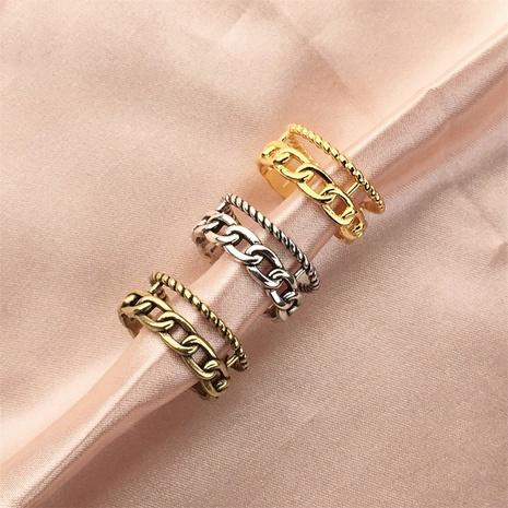 Vente en gros bijoux bague en cuivre ouverte à torsion creuse rétro Nihaojewelry NHPY380712's discount tags
