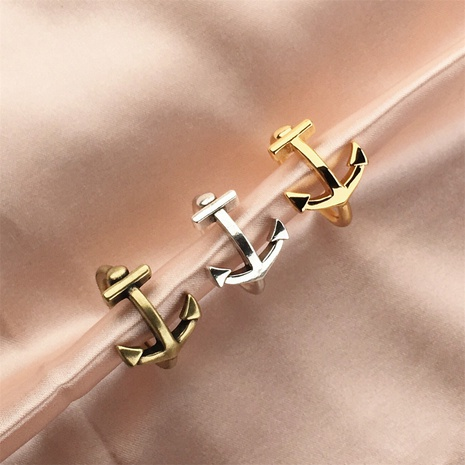vente en gros bijoux ancre creuse bague en cuivre ouverte Nihaojewelry NHPY380714's discount tags