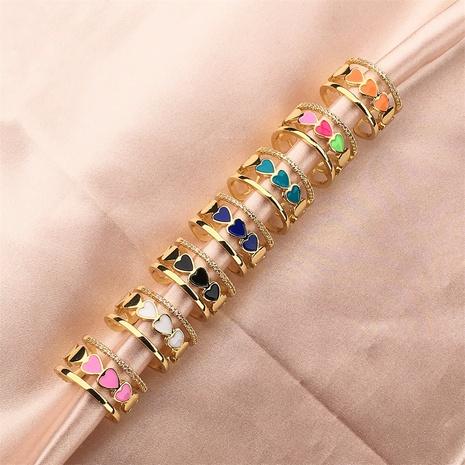 Vente en gros bijoux coeur anneau de cuivre creux multicouche Nihaojewelry NHPY380715's discount tags