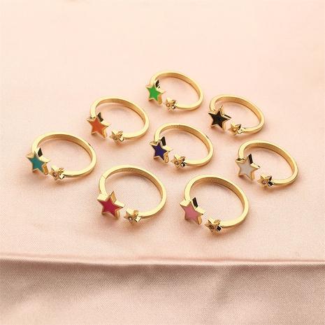 vente en gros bijoux zircon étoile ouverte bague en cuivre Nihaojewelry NHPY380718's discount tags