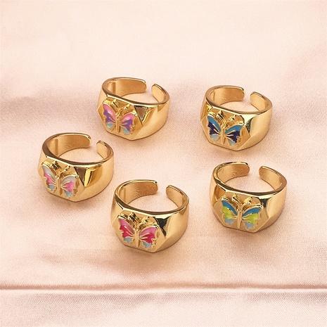 vente en gros bijoux bague ouverte en cuivre en forme de papillon Nihaojewelry NHPY380720's discount tags
