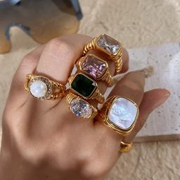 Nihaojewelry wholesale jewelry fashion trend geometric zircon stainless steel ring  NHJIE380760