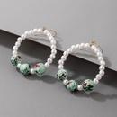 Nihaojewelry wholesale jewelry simple pearl beads big circle earrings  NHGY380848
