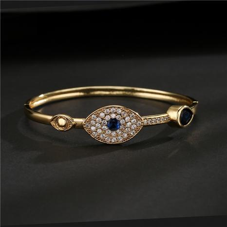 wholesale jewelry copper-plated zircon devil's eye bracelet Nihaojewelry NHFMO381012's discount tags
