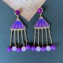 Nihaojewelry Ethnic Style Multicolor Resin Bead Tassel Earrings Wholesale Jewelry NHOM381062