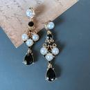 Nihaojewelry Leaf Glass Water Drop Gem Earrings Wholesale Jewelry NHOM381066