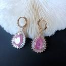 Nihaojewelry Korean style color matching drip glaze enamel geometric earrings Wholesale Jewelry NHOM381073