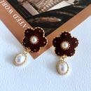 wholesale fashion flower enamel glaze drop earrings  NHOM381088