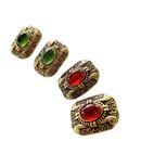 wholesale retro inlaid emerald gem stud earrings nihaojewelry NHOM381090
