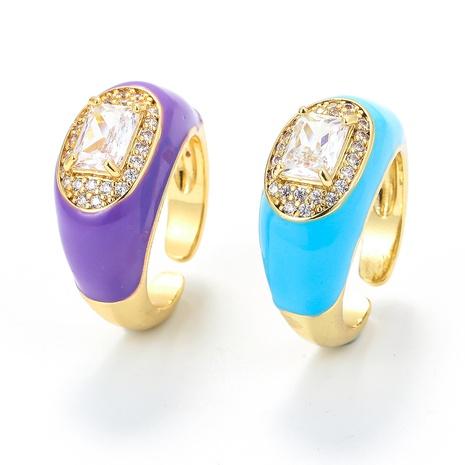 Vente en gros bijoux rétro anneau de cuivre incrusté d'huile goutte à goutte Nihaojewelry NHWG381142's discount tags
