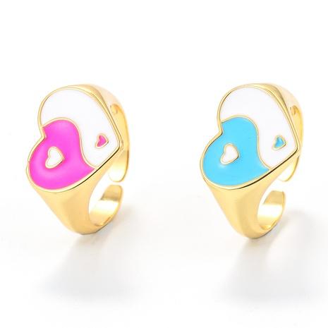Nihaojewelry bijoux en gros nouvelle bague ouverte tai chi d'huile dégoulinante rétro NHWG381144's discount tags