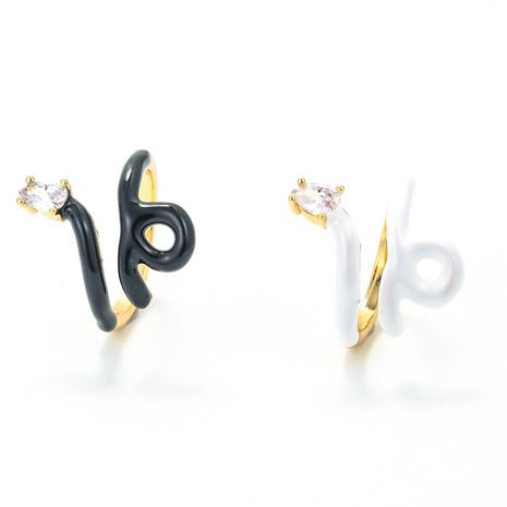 Nihaojewelry bijoux en gros couleur de la mode dégoulinant de bague en cuivre en forme de serpent NHWG381143's discount tags