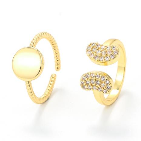Bague d'ouverture en forme de papillon brillant rond coréen de bijoux en gros de Nihaojewelry NHWG381146's discount tags