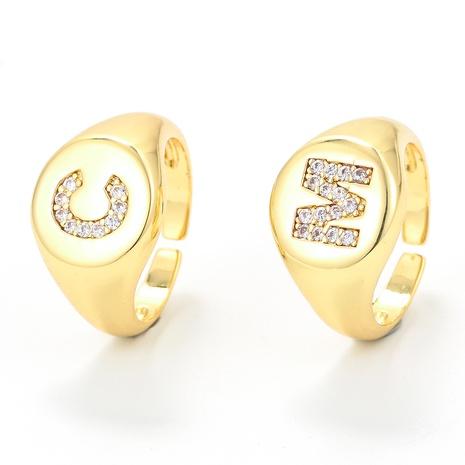 Nihaojewelry Bijoux en gros Mode Micro-incrusté Zircon Cercle Brillant Épais Anneau NHWG381151's discount tags
