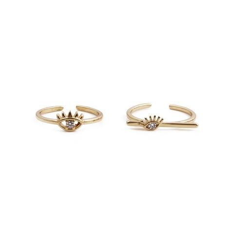 Nihaojewelry Creative Devil's Eye Zircon Ring Bijoux en gros NHYL381178's discount tags