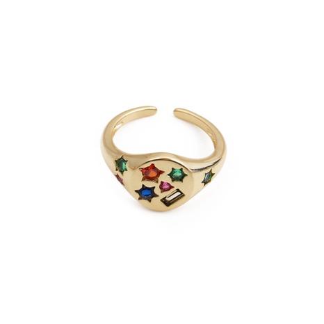 Nihaojewelry mode zircon couleur ouverture bague réglable bijoux en gros NHYL381186's discount tags