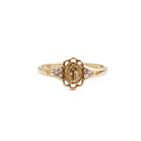 Nihaojewelry mode micro-incrusté zircon coeur portrait bague ouverte bijoux en gros NHYL381188's discount tags