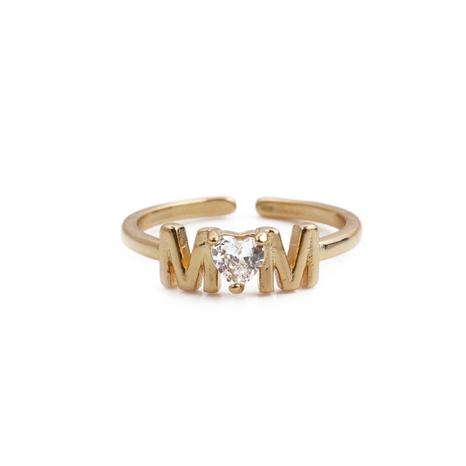 Nihaojewelry simple lettre creuse en forme de coeur anneau de zircon incrusté de cuivre bijoux en gros NHYL381205's discount tags