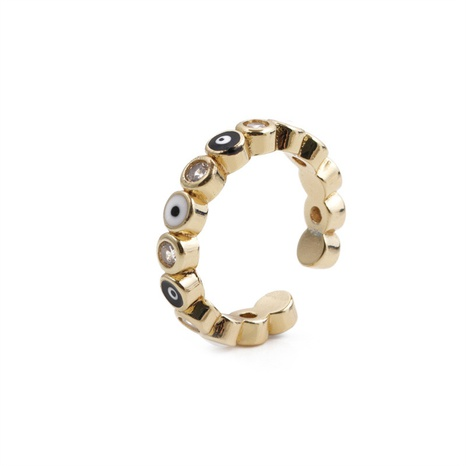 Nihaojewelry mode incrusté de zircon oeil ouvert bague bijoux en gros NHYL381211's discount tags