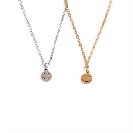 Großhandel Mode Smiley Anhänger Edelstahl Halskette Nihaojewelry NHYL381212's discount tags