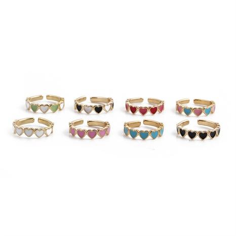 Nihaojewelry goutte d'huile coeur ouverture bague réglable bijoux en gros NHYL381221's discount tags
