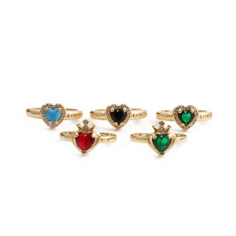 Nihaojewelry mode bague zircon en forme de coeur bijoux en gros NHYL381228's discount tags